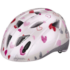 Alpina Ximo Casco Niños, white hearts